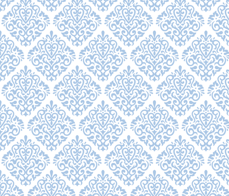 blue on white   fabric by mariafaithgarcia on Spoonflower - custom fabric