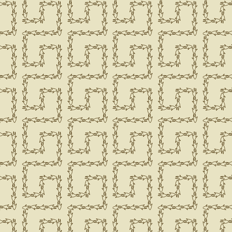Armadillo Greek Key - Ivory fabric by maplewooddesignstudio on Spoonflower - custom fabric