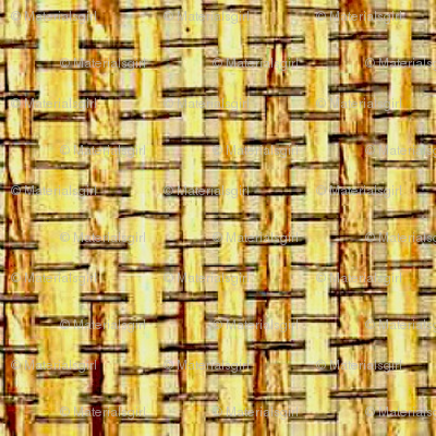 Woven Bamboo - natural fibers woven together