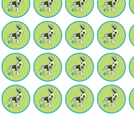 Animal Trails Donkey Decal Lime fabric by designedtoat on Spoonflower - custom fabric