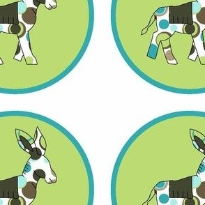 Animal Trails Donkey Decal Lime