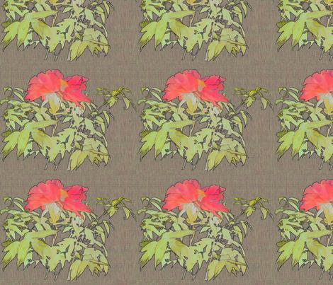 peony-coral-fibers-band fabric by wren_leyland on Spoonflower - custom fabric