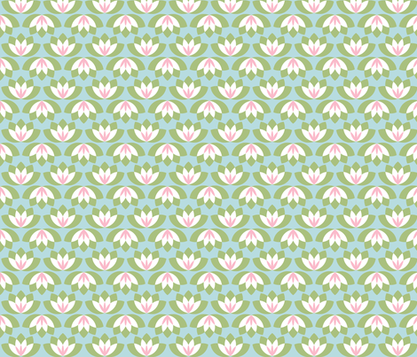 abstract lotus fabric by risarocksit on Spoonflower - custom fabric