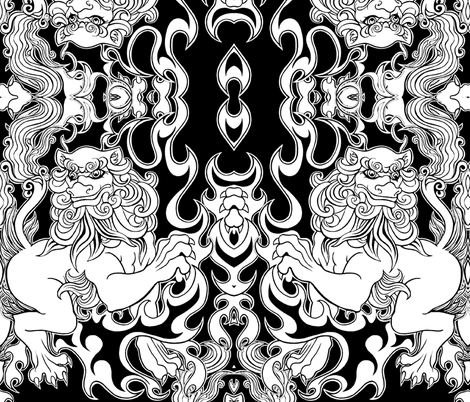 Guarding The Temple Of You fabric by whimzwhirled on Spoonflower - custom fabric