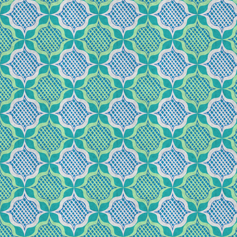 trellis medallions fabric by glimmericks on Spoonflower - custom fabric