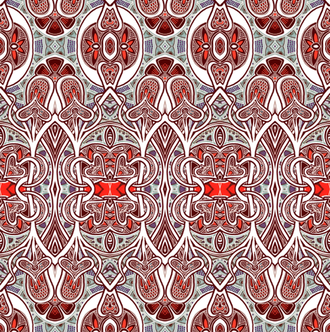 Art Nouveau on the Go fabric by edsel2084 on Spoonflower - custom fabric