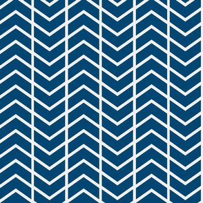 chevron navy and white