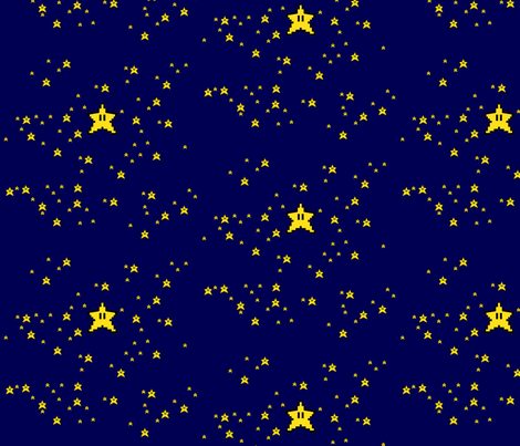 Starry Night fabric by featheralchemist on Spoonflower - custom fabric
