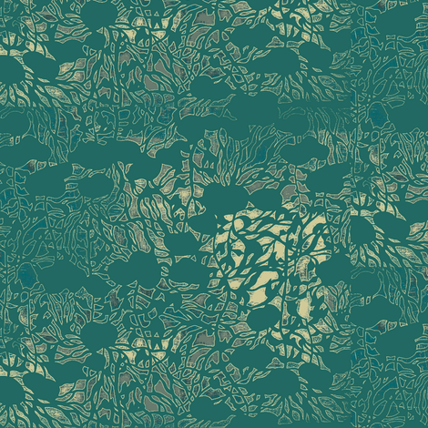 Wild Ivy - Asian Stencil Collection  fabric by materialsgirl on Spoonflower - custom fabric