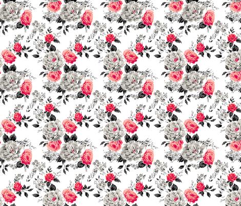 Red Flower fabric by polina_vaschenko on Spoonflower - custom fabric