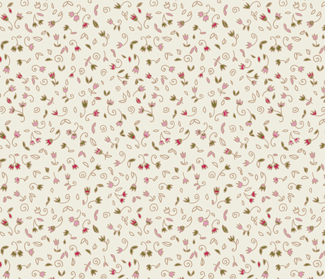 Mini Flowers 2 fabric by polina_vaschenko on Spoonflower - custom fabric