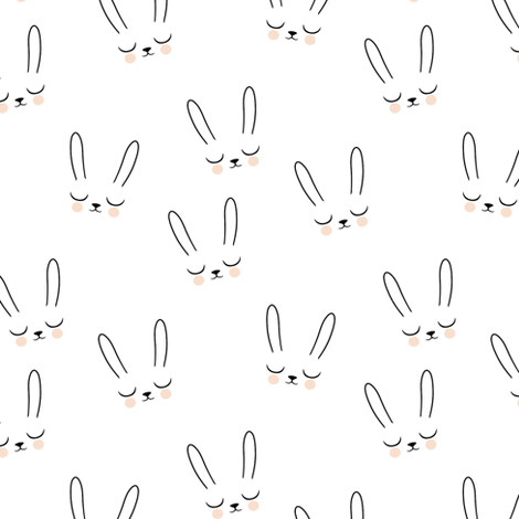Sleepy Bunny (small) fabric by kimsa on Spoonflower - custom fabric