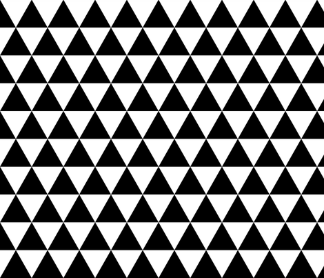 Black & White Triangles fabric by kimsa on Spoonflower - custom fabric