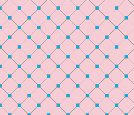 floor tiles - pink blue fabric by gingerme on Spoonflower - custom fabric
