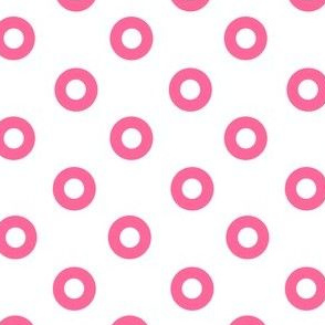 Pink Noughts on White
