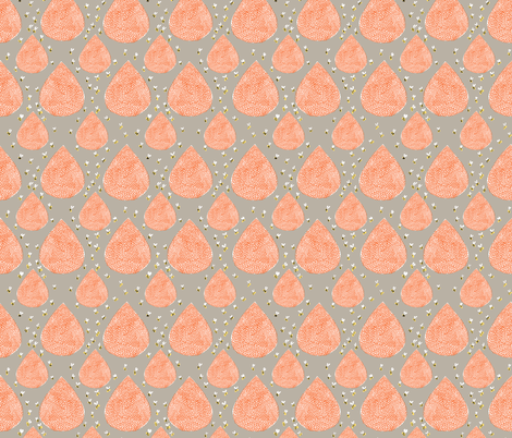 Bee Hives on Gray fabric by prettypenny on Spoonflower - custom fabric