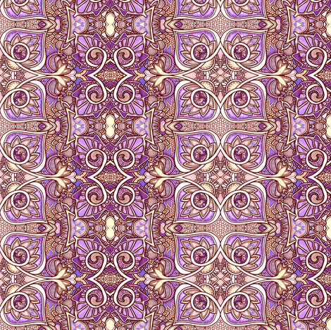 My Knight of Sepia and Lavender Armor fabric by edsel2084 on Spoonflower - custom fabric