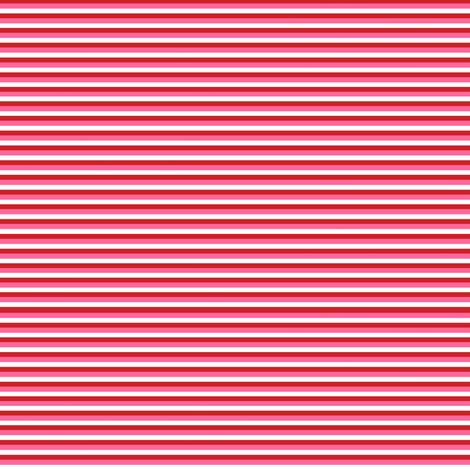 Thin Stripes - Red, pink and white fabric by little_fish on Spoonflower - custom fabric