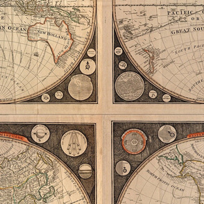 Template - 1799 World Map by Kitchen  - Centered