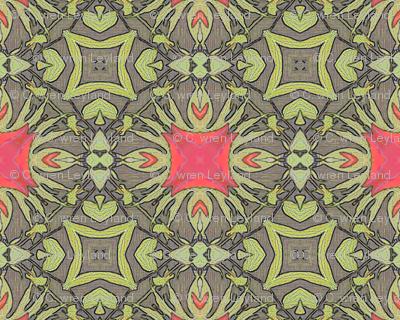 Peony Ornate Squared