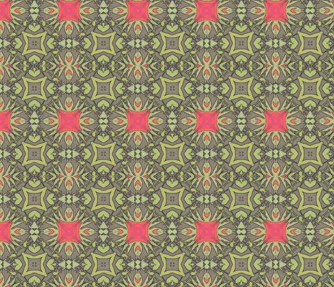 Peony Ornate Squared fabric by wren_leyland on Spoonflower - custom fabric