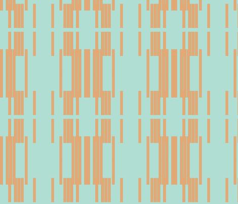 mod line - blue fabric by anieke on Spoonflower - custom fabric