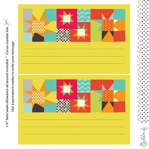 Quilt Label: Wonky Stars