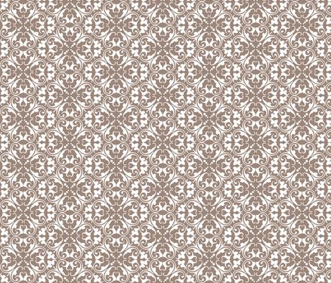 lizzie mocha fabric by lilbirdfly on Spoonflower - custom fabric