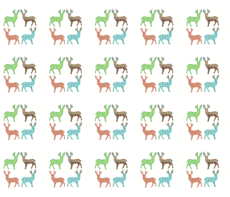 Patchwork Meadow Deer fabric by kbexquisites on Spoonflower - custom fabric