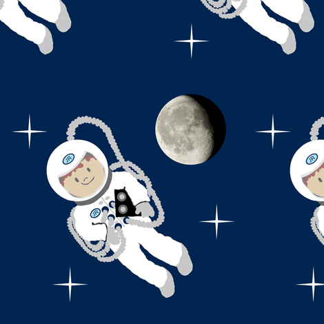 Up in Space/ Jr. Commander fabric by paragonstudios on Spoonflower - custom fabric