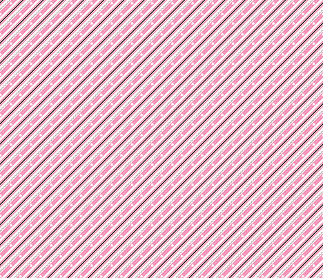 Happy Hearts Matching Stripe fabric by olumna on Spoonflower - custom fabric