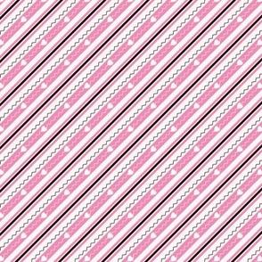 Happy Hearts Matching Stripe