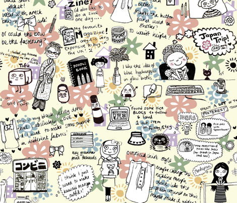 Doodles & Dreams fabric by emilykariya on Spoonflower - custom fabric
