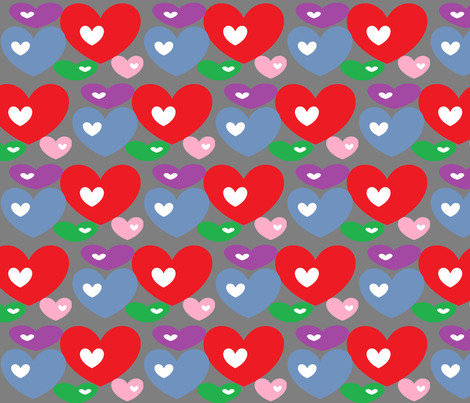Open Hearts fabric by sterlingrun on Spoonflower - custom fabric