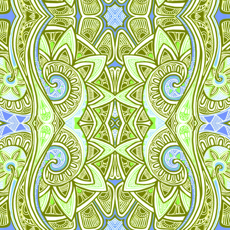 As the Paisley Swim fabric by edsel2084 on Spoonflower - custom fabric