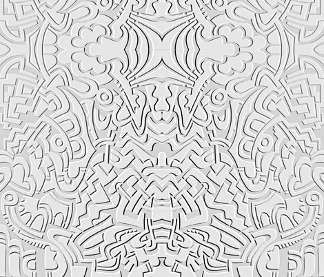 Embossed Doodle fabric by whimzwhirled on Spoonflower - custom fabric