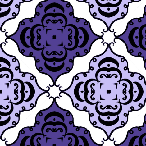 purple diamond fabric by ladyleigh on Spoonflower - custom fabric