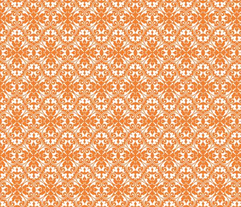 lizzie orange fabric by lilbirdfly on Spoonflower - custom fabric