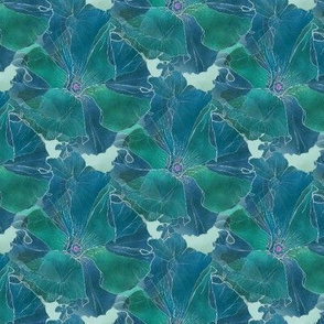 Blue-green Petunias 8x10