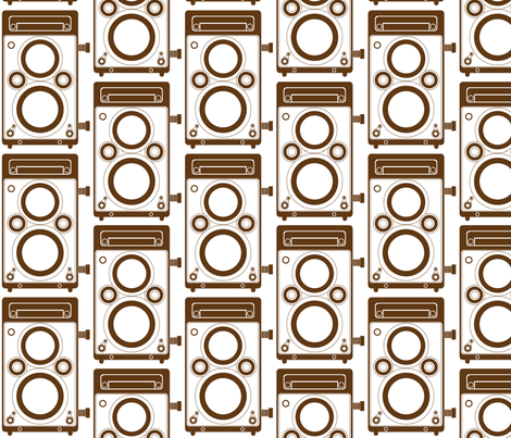 Brown Twin Lens Reflex fabric by audreyclayton on Spoonflower - custom fabric