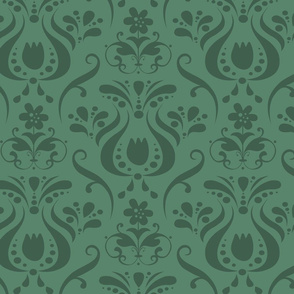 Damask in Verdigris