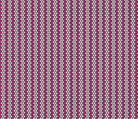 Suspicious Robotics (White on Pink, Small Pattern) fabric by lisulle on Spoonflower - custom fabric
