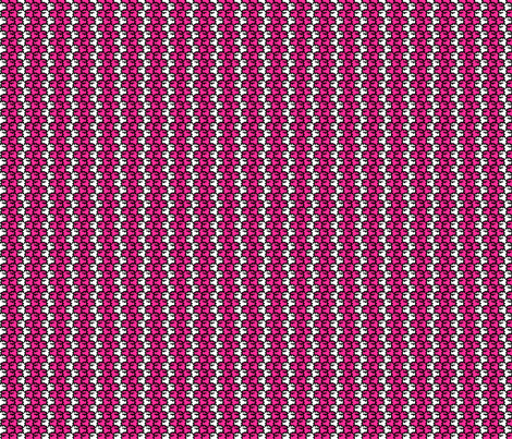 Suspicious Robotics (Pink on White, Small Pattern) fabric by lisulle on Spoonflower - custom fabric