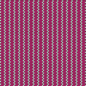 Suspicious Robotics (Pink on White, Small Pattern)