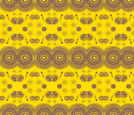 yellow purple highest heavens fabric by g-mana on Spoonflower - custom fabric