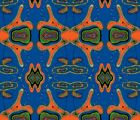 cropped_delight_paint_blue and orange fabric by g-mana on Spoonflower - custom fabric