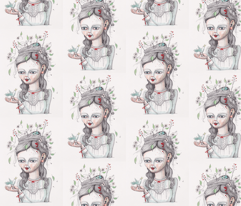 Birds Nest-ed fabric by jessquinn on Spoonflower - custom fabric