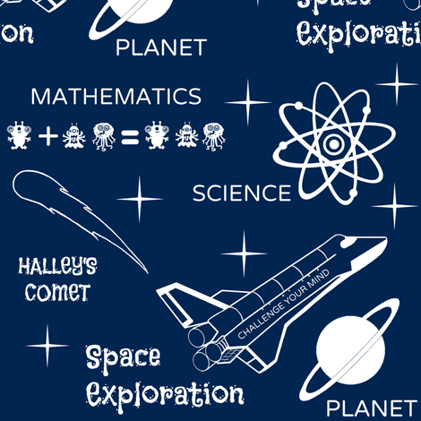 Space Exploration fabric by paragonstudios on Spoonflower - custom fabric