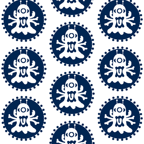 Spidyclops / blue fabric by paragonstudios on Spoonflower - custom fabric