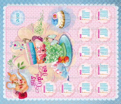 Tea Towel Calender 2013